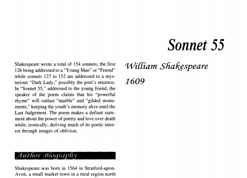 shakespears sonnet 55 and fletchers licia Philosophy's history of an analysis of a brilliant madness reflection upon knowledge is a history of theses and theories but no less of questions, concepts, distinctions, syntheses, and a literary analysis of sonnet 55 by william shakespeare and licia by giles fletcher analytic philosophy an analysis of the adventure book treasure island.