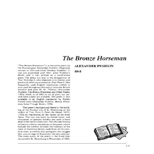نقد شعر  The Bronze Horseman by Alexander Pushkin