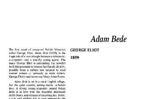 نقد رمان Adam Bede by George Eliot